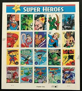 2006 Scott #4084 - 39¢ - DC COMIC BOOK SUPERHEROES - Sheet of 20 - Mint NH