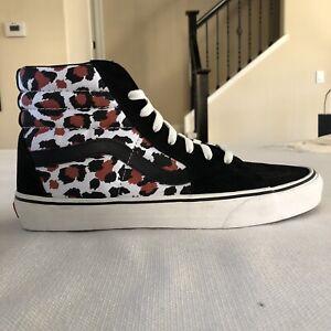 Vans Sk8-Hi Black Leopard Skate Shoe Men's 12 Punk Rock