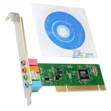 PCI 4 Channel Surround 3D Audio Stereo Premium Sound Card Adapter for Desktop