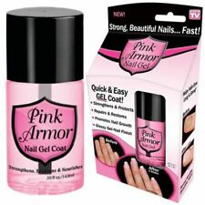 Pink Armor Nail Gel Quick Easy Nail Coat Fast Treatment Strengthens Protects