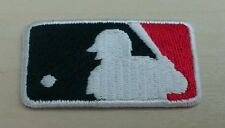 """MLB Logo Patch Embroidery Black / Red Baseball (1"""" x 1.75"""") Iron On"""