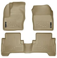 Husky Liners WeatherBeater Floor Mats- 3pc- 99743 - Ford C-Max/Escape 13-17- Tan