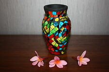 NEW Balinese Hand Crafted Moasic Vase - Bali Mosaic Vase  - MANY COLOURS