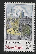 Stati Uniti Scott# 2346, Singolo 1988 New York 25c VF Nuovo senza Linguella
