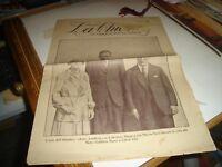 """rivista LA CHIOSA anno VIII° n. 46 del 27/11/1927 """"AVIATORE LINDBERG"""""""