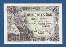 ESPAÑA // SPAIN -- 1 PESETA ( 1945 ) -- EBC- // aXF -- SIN SERIE // NO SERIAL .