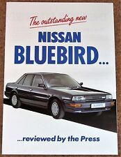 1987 nissan bluebird uk les revues de presse ventes brochure-non lu new old stock!!!