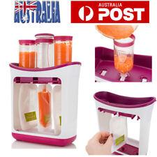 Infant Baby Feeding Food Squeeze Station Fruit Maker Dispenser Storage Kit AU
