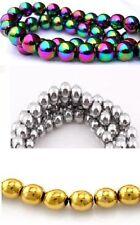 Any Purpose Round Hematite Craft Beads