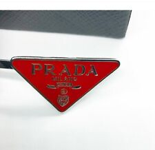PRADA RED HAIR SLIDES