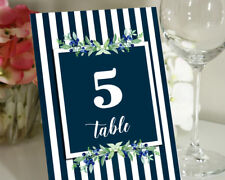 Darling Souvenir Striped Table Numbers Wedding Reception  Table Card-DS-JSTN60