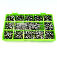 460 ASSORTED A4 STAINLESS STEEL 6g 3mm POZI CSK WOODSCREWS SCREW DIY KIT