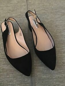 Primark Black Slingback Shoe Size 6