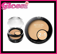2 X REVLON COLORSTAY 2-IN-1 COMPACT FOUNDATION MAKEUP & CONCEALER 180 SAND BEIGE