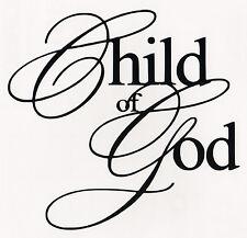 CHILD OF GOD Vinyl Decal Sticker Car Window Wall Bumper Macbook Jesus Cross Love