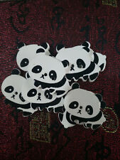 8PC Wooden Buttons Panda for Sewing or Scrapbooking 2 Holes 26.5mmX21mm #N8