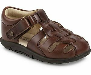 NIB STRIDE RITE Outdoor Shoes Fisherman Sandals Harper Brown Toddler 5 XXW