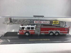 CODE 3 - KANSAS CITY FIRE DEPT E-ONE PLATFORM LADDER 15 - 1/64TH SCALE - #12940