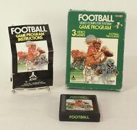 Vintage Boxed Atari 2600 game Football Tested & Working