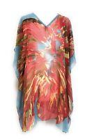Ladies Bikini Cover Up Beachwear Swimwear V Neck Caftan Bathing Top NWT S-M-L-XL