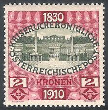 Austria 1910 80th Birthday green/red 2k SG237 MNH