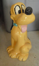 """Vintage Hand Painted Ceramic Pluto Dog Figurine 8 3/4"""" Tall"""