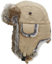 $86 WOOLRICH MEN'S BROWN FAUX FUR AVIATOR HAT WARM WINTER TRAPPER HAT SIZE L