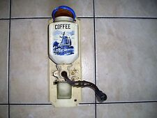 Vintage / Antique wall mounted coffee grinder mill authentic