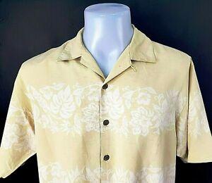 "TOMMY BAHAMA Mens Pale Yellow S/S HAWAIIAN SHIRT 100% Silk - S (M) - 44"" - £79"