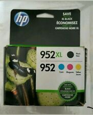 Genuine HP 952 XL Black & 952 Color Ink Cartridges Open Box Sep/2020-Dec/2021