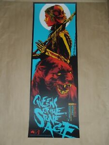 Queens of the Stone Age Ken Taylor Sydney Auckland concert poster print art blue