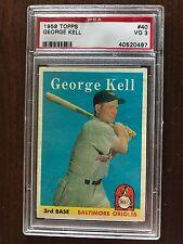 1956 Topps George Kell Detroit Tigers #40 PSA 3 VG