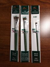FolkArt One Stroke Scruffy Brushes Lot Of 3 Sizes Natural Bristle