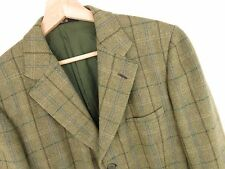 M569 DAKS BLAZER WOOL JACKET ORIGINAL PREMIUM GREEN CHECK size 39R