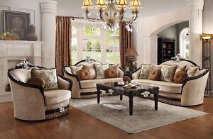 Acme Furniture Ernestine Sofa and Loveseat Living Room Set