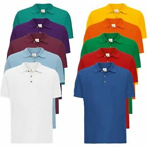 New Mens Polo Shirt Top Short Sleeve Designer Plain T-shirt Tee Golf Fashion