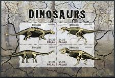 Palau 2014 Mnh Dinosaurs Ii 4v M/S Diplodocus Tyrannosaurus Ankylosaurus