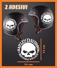 ADESIVO HARLEY DAVIDSON CASCO ADESIVI DECAL SKULL MOTO CUSTOM harley-davidson