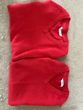 M&S red school jumper age 7-8