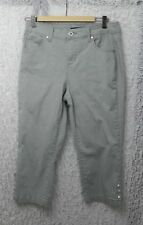 Bandolino Mandie Womens Embroidered & Embellished Jeans Sage Green Size Missie 8