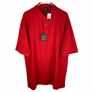 NEW Jos A Bank Traveler Polo Shirt Large Red Traditional Fit Cotton $89.50