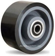"W-630-DB70-3/4 6"" x 3"" Duralast XC 70D Polyurethane on Cast Iron Wheel"