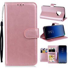 For Samsung Galaxy S8/ S9 Plus NOTE 8 Flip Leather Wallet Case w Card Slot Cover