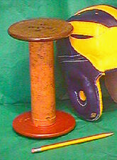 Antique Stand for Leather football helmets from old New England Mills  Fine wood