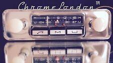 Blaupunkt Mannheim 12 IVOIRE VINTAGE CHROME auto classique FM Radio + mp3