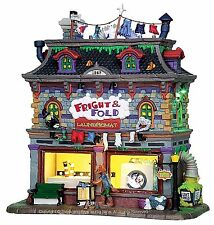 Lemax 25332 FRIGHT & FOLD LAUNDROMAT Spooky Town Building Animated Halloween I