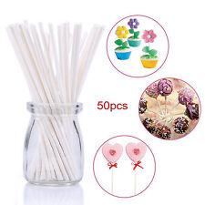 6inch 50Pcs Reusable Plastic Candy Cookies Chocolate Cake Pop Lollipop Sticks
