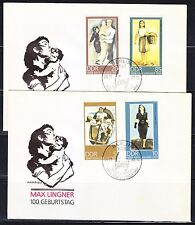 Germany DDR 1988 FDC covers Mi 3209-3212 Sc 2713-2716 Paitings by Max Lingner