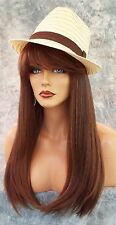 100% Heat Friendly Wig Long Straight  SLINKY SLICK STYLE COLOR P4.27.30 1014