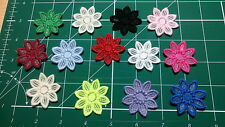 "5pcs -  Embroidery Guipure Lace Flower Motif-Applique,Wedding, Patch - 4cm - ""1"""